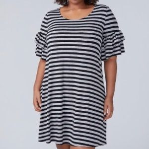 Lane Bryant 18/20  flutter sleeve swing dress